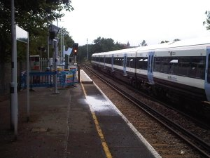 Westcombe Park stn - platform extension works 2013