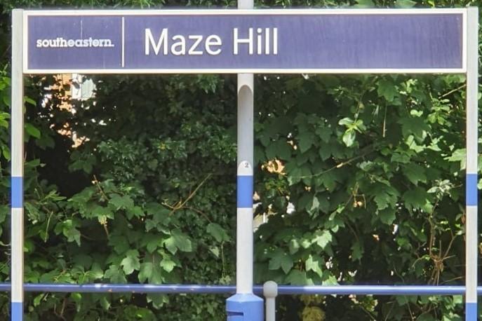 Maze Hill sign (2)