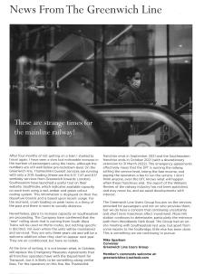 Greenwich Society newsletter Oct 2020